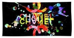 Chanel Blacky Black Beach Towel