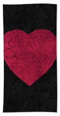 Chanel Heart-1 Beach Towel