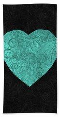 Chanel Heart-4 Beach Towel