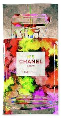 Chanel No 5 Beach Towel by Daniel Janda