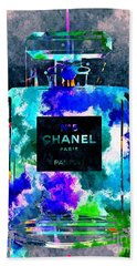 Chanel No 5 Dark Grunge Beach Towel by Daniel Janda