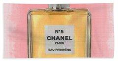 Chanel No 5 Eau De Parfum Beach Towel