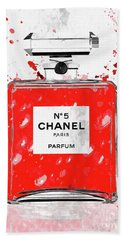 Chanel No 5 Red Beach Towel