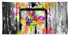 Chanel No. 5  Wooden Beach Towel by Daniel Janda