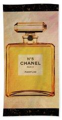 Chanel No.5 Parfum Bottle 2 Beach Towel