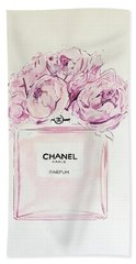 Chanel Peonies Beach Towel
