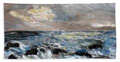 Changing Tide Beach Sheet by Michael Helfen