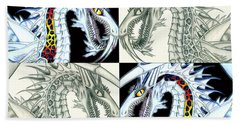 Chaos Dragon Fact Vs Fiction Beach Towel