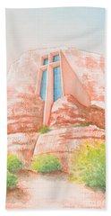 Chapel In The Rock Beach Towel