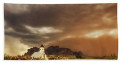 Beach Towel featuring the photograph Chapel In The Storm by Rick Furmanek