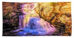 Chapman Falls Connecticut Beach Towel