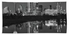 Charcoal Night In The Lone Star State Beach Towel