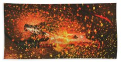 Charged Up Workshop Art Beach Towel