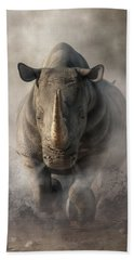 Charging Rhino Beach Towel