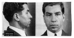 Charles Lucky Luciano Mug Shot 1931 Horizontal Beach Towel