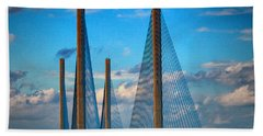 Charles W Cullen Bridge South Approach Beach Towel