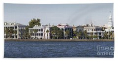 Charleston Battery Row Panorama 2 Beach Sheet