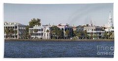 Charleston Battery Row Panorama 2 Beach Towel