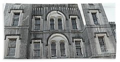 Beach Towel featuring the photograph Charleston Historical Haunted Old Jail House - Charleston Old Jail Civil War Architecture  by Kathy Fornal