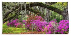 Charleston South Carolina Spring Flowers Lowcountry Landscape Photography Beach Towel