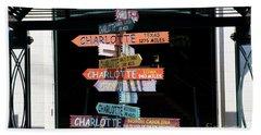 Charlotte Signs Beach Sheet
