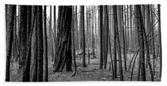 Charred Trees Beach Sheet by Ralph Vazquez
