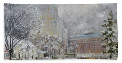 Chase Park Plaza In Winter, St.louis Beach Towel