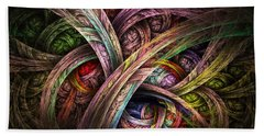 Beach Towel featuring the digital art Chasing Colors - Fractal Art by NirvanaBlues
