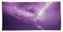 Chasing Nebraska Lightning 018 Beach Towel