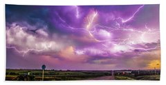 Chasing Nebraska Lightning 056 Beach Towel