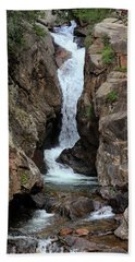 Beach Towel featuring the photograph Chasm Falls - Panorama by Shane Bechler