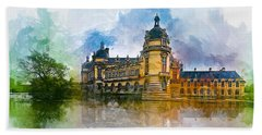 Chateau De Chantilly Beach Towel