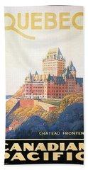 Chateau Frontenac Beach Towels