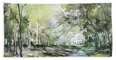 Chateau In Provence  Beach Sheet by Robin Miller-Bookhout