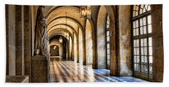 Chateau Versailles Interior Hallway Architecture  Beach Towel
