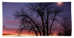 Chatfield Moon At Sunrise Beach Towel