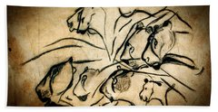 Chauvet Cave Lions Beach Sheet