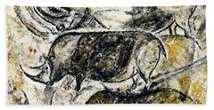 Chauvet Three Rhinoceros Beach Sheet