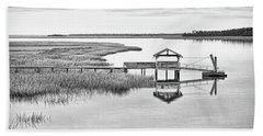 Chechessee Dock Beach Towel by Scott Hansen