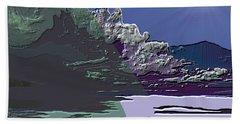 Beach Sheet featuring the digital art 1978 - Nowhere  by Irmgard Schoendorf Welch