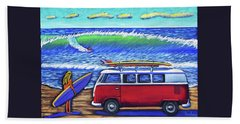 Checking Out The Waves Beach Towel