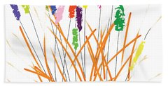 Cheerful Cattails Beach Towel