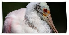 Cheese Puff Face - Roseate Spoonbill Beach Towel