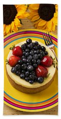 Cheesecake With Fruit Beach Towel