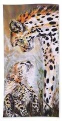 Cheetah And Pup Beach Towel