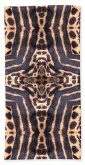 Cheetah Cross Beach Sheet by Maria Watt