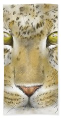 Cheetah Face Beach Towel