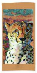 Cheetah Face Beach Towel