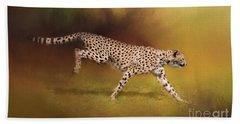 Cheetah Running Beach Sheet