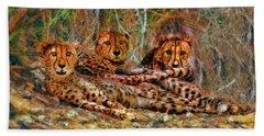 Cheetahs Den Beach Towel